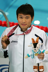 ×ì'å•ã/Daisuke Hosokawa (JPN),   DECEMBER 3, 2006 - Swimming :   15th Asian Games Doha 2006, Men's 200m Freestyle at Hamad Aquatic Centre, Doha, Qatar.   (Photo by Daiju Kitamura/AFLO SPORT) [1045]