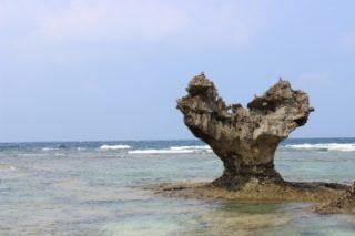 古宇利島のハートロックんの画像