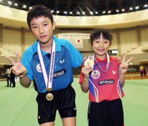 張本智和と妹の張本美和の画像